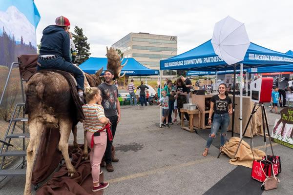 Alaska Moose photo booth